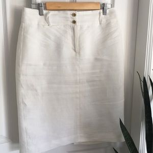 Banana Republic washable linen pencil skirt